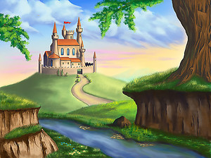 Маленький замок на холме