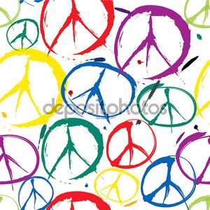 Бесшовный паттерн с многоцветной символы мира