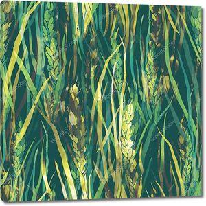 Дикие травы бесшовный фон