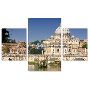 Ватикан от Понте Умберто i в Риме, Италия
