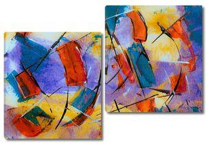 Цветовая  яркая абстракция