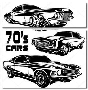 Мышцы автомобилей векторные плакат