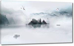 Островок в дымке