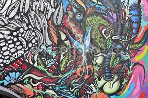 Росписи на стене Бэтмен аллея в Сан-Пауло