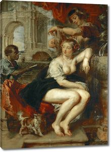 Рубенс. Вирсавия у фонтана