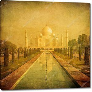 старинные изображения Тадж Махал, Агра, Индия