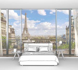 Вид на Париж с ажурного балкона