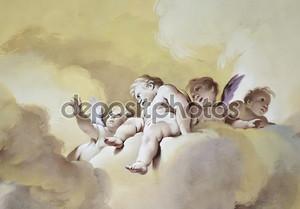 Фреска с ангелами