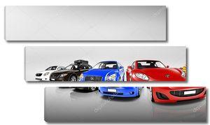 Разноцветные современных автомобилей