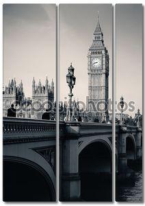 Лондонский горизонт в черно-белом