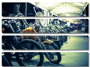 Мотоциклы выставляются на выставке мотоциклов