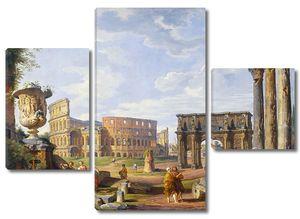 Фреска с прекрасным видом на Колизей