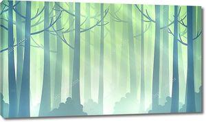 Волшебный лес Иллюстрация