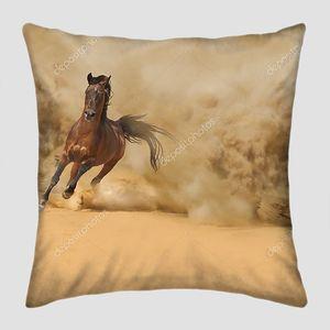 Чистокровных арабских лошадей, работает в пустыне