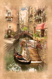 Набережная Венеции в рамке