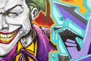 Граффити с Джокером
