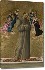 Боттичелли. Св.Франциск и ангелы