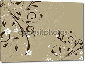 Декоративно романтически Цветочная абстракция иллюстрации