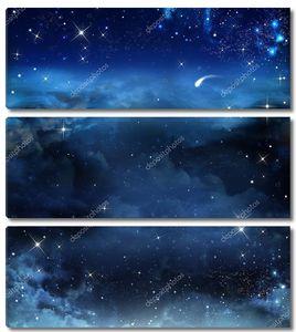 красивый фон, ночное небо