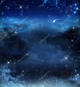 Красивый фон ночного неба