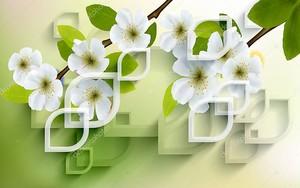 Весенние цветы на ветке