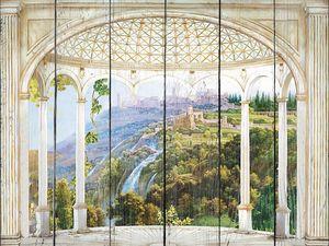Вид из окна на зеленые леса
