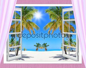 Океан окно представления
