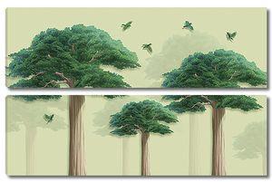Три высоких дерева