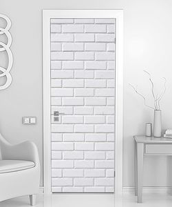 Белая ровная  кирпичная стена