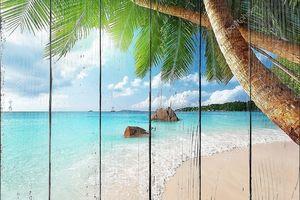 Пляж Anse Lazio на острове Праслин в Сейшельских островах