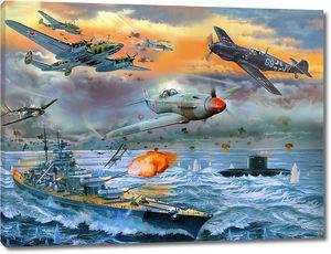 Военные действия между кораблями и самолетами