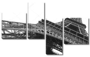 Эйфелева башня в черно-белом