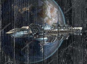 Межзвездный космический корабль покидает Землю