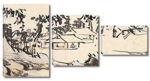 Рисунок. Китайская деревенька