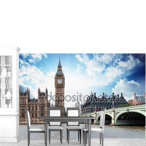 Биг-Бена, дома парламента и Вестминстерского моста в