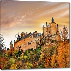 Закат над замок Алькасар, Испания, Сеговия