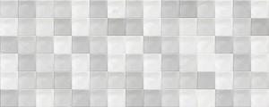 Классический серый керамогранитный настенный фон. Текстура серой мозаики.