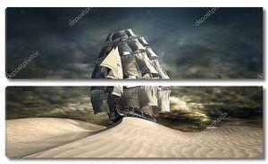 корабль в пустыне
