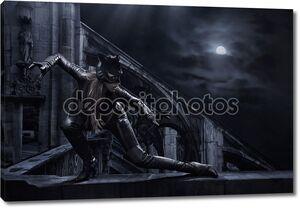 Удивительные catwoman охота ночью