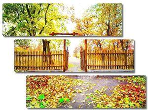 Калитка с выходом в парк