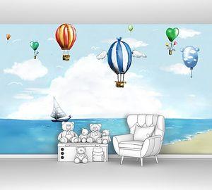 Воздушные шары и корабль