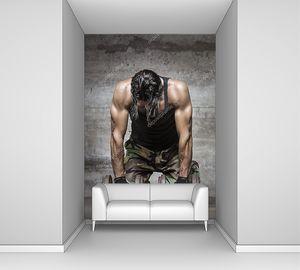 Усталые мышцы спортсмена