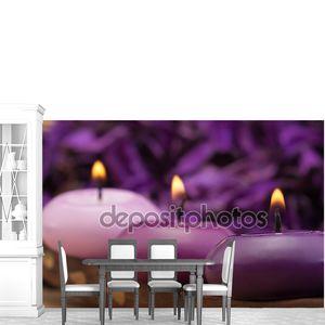Пурпур тонированные свечи