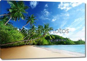 Закат на пляже, остров Маэ, Сейшельские острова
