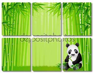 Панда и бамбуковый лес
