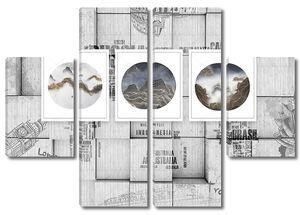 Названия странна кубах, рамки с пейзажамие