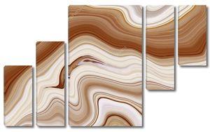 Коричневый мраморный узор флюид