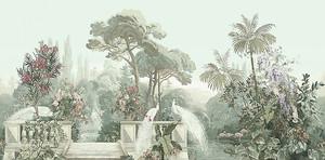 Райский сад с павлинами на балкончике