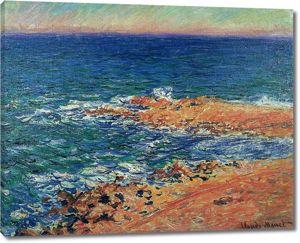Моне Клод. Большое синее море в Антибе, 1888