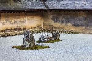 Дзэн Рок сад в храме ryoanji в Киото